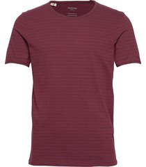 slhmorgan stripe ss o-neck tee w t-shirts short-sleeved röd selected homme