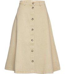 sanbina midi skirt knälång kjol beige soft rebels