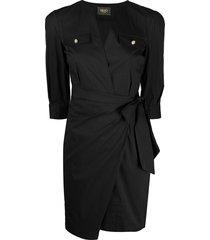 liu jo slim-fit ruched dress - black