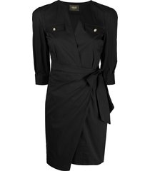 liu jo slim-fit ruched dress - black