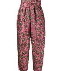 colville embroidered belted trousers - pink
