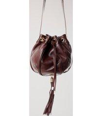 bolsa de couro saco capuchão vinho
