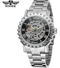 reloj de pulsera de acero casual casual de acero de la moda-