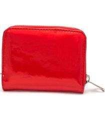 mini billetera roja color rosado, talla uni