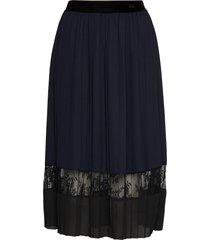 skirt knälång kjol blå rosemunde