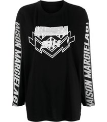 mm6 maison margiela logo print sweatshirt