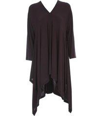 issey miyake short tunic dress l/s v neck