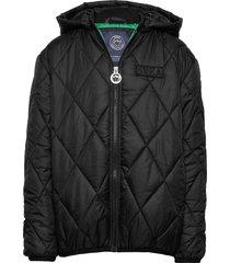 k. quilted hood jacket gevoerd jack zwart svea