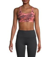 wear it to heart women's camo shoulder strap bra - neon blush - size xs