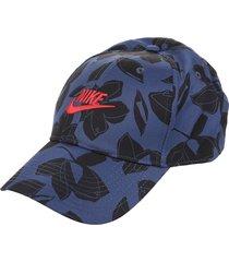 gorra azul nike floral