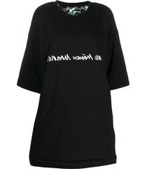 mm6 maison margiela reversible oversized dress - black