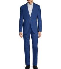 saks fifth avenue men's extra slim fit 2-piece suit - bright blue - size 40 r
