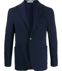 0909 single-breasted formal blazer - blue