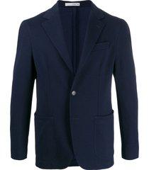 0909 single-breasted formal blazer - blue