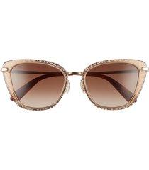 women's kate spade new york 53mm thelma gradient cat eye sunglasses - brown/ brown gradient