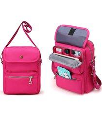 donne utile borsa a tracolla da viaggio e passaporto borsa a spalla