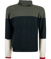 j.w. anderson colourblock turtleneck sweater