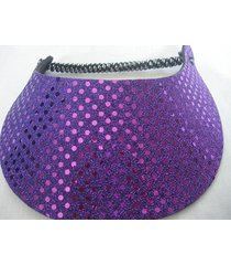 royal purple sun visor new glitzy spiral lace 1 size fits most dressy us seller