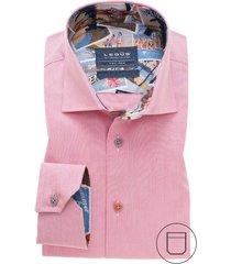 ledub modern fit overhemd roze borstzak