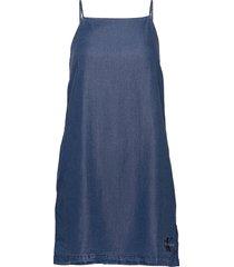 indigo tencel slip dress korte jurk blauw calvin klein jeans