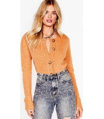 womens round our way button-down knit cardigan - camel