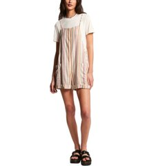 volcom juniors' can't be tamed striped romper