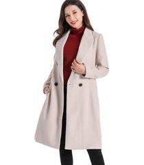 abrigo cuatro botones blanco nicopoly