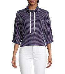 bb dakota women's buzzy beater pullover - navy - size m