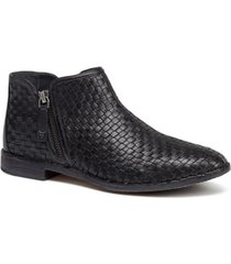 women's trask amy woven leather bootie