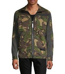 camouflage zip-front jacket