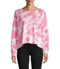 tie-dyed cotton-blend sweatshirt