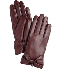 charter club leather bow glove, created for macy's