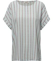 california print top blouses short-sleeved vit modström