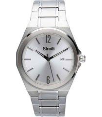orologio solo tempo con cinturino e cassa in acciaio silver per uomo