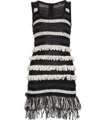 balmain mini knitted dress