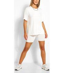 jersey t-shirt & fietsbroekset, wit