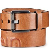 calvin klein jeans men's debossed leather belt
