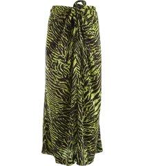 ganni zebra print skirt