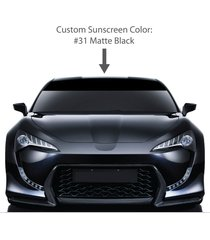 "6"" by 60"" solid windshield sun visor screen. / matte black / vinyl stripes & ..."