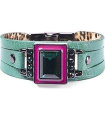 pulseira armazem rr bijoux cristal quadrado feminina