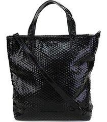 bolsa couro colcci shopper cobra feminina