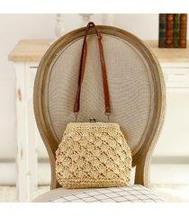 vn 2017 vintage straw weave women bag out shell shape shoulder bag lovely beach