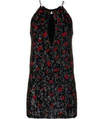 saint laurent lip print sequin dress