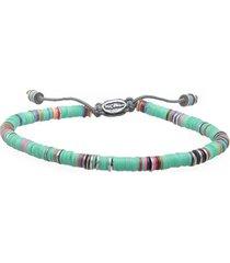 african turquoise vinyl oxidized disc bracelet