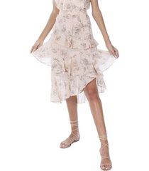 allison new york women's floral ruffled skirt