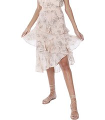 allison new york women's floral ruffled skirt