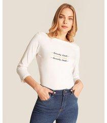 camiseta manga 3/4 unicolor
