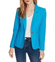 women's court & rowe stretch waffle knit blazer, size 12 - blue
