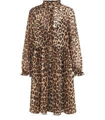 luipaardprint jurk cello  bruin