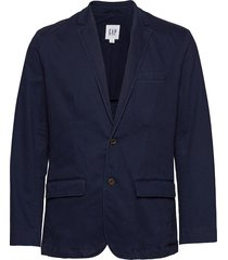 casual classic blazer in stretch blazer colbert blauw gap